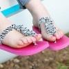 Ruffled T Strap Flip Flops | AllFreeSewing.com