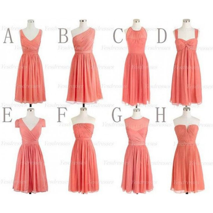Best 25  Short coral bridesmaid dresses ideas on Pinterest | Beach ...