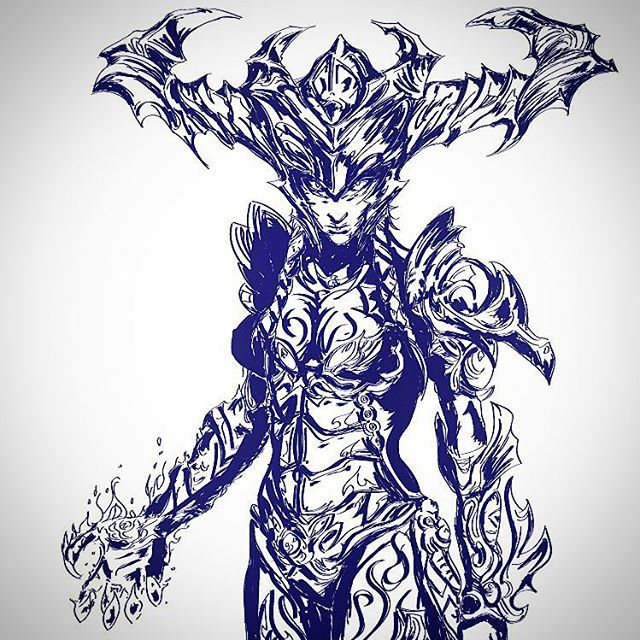 #draw #drawing #tattoo #nerd #geek #illustration #illustrator #marvel #comics #popart #art #artist #shadows #sketch #sketchbook #colours #manga #anime #shyvana #leagueoflegends #lol You want me to draw more pictures? Like this hero and vote your favourite lol champ...i'll draw the most voted by you!