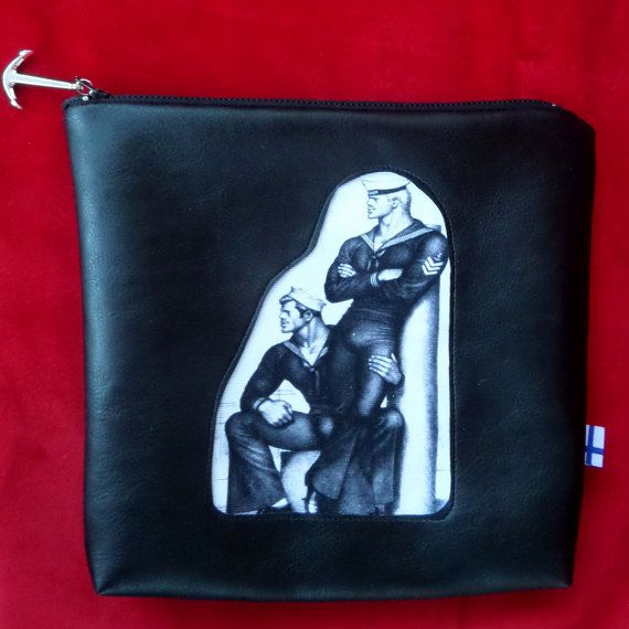 Tom of Finland Pouch Zipper Pouch Cosmetic Bag by FridasCorner
