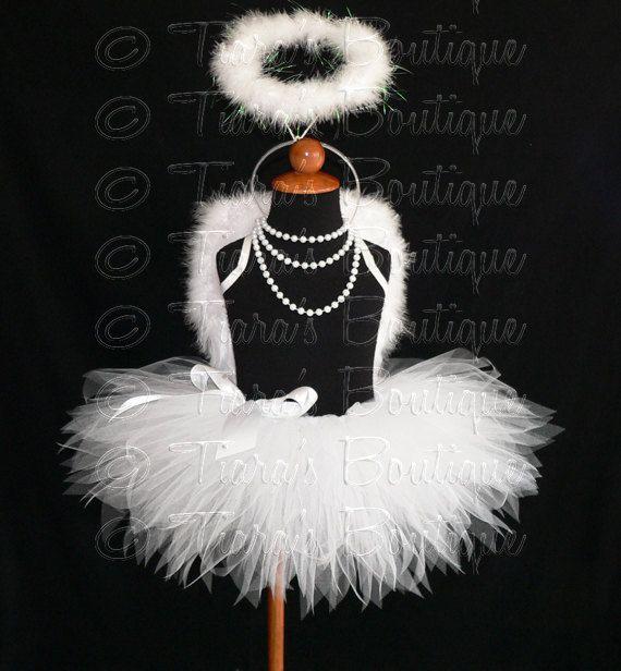 Inspiration: Angel Tutu Costume w/ Halo 11 Tutu Angel Wings and by TutuTiara