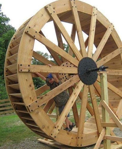 Metal, Steel, Wooden Waterwheels For Sale