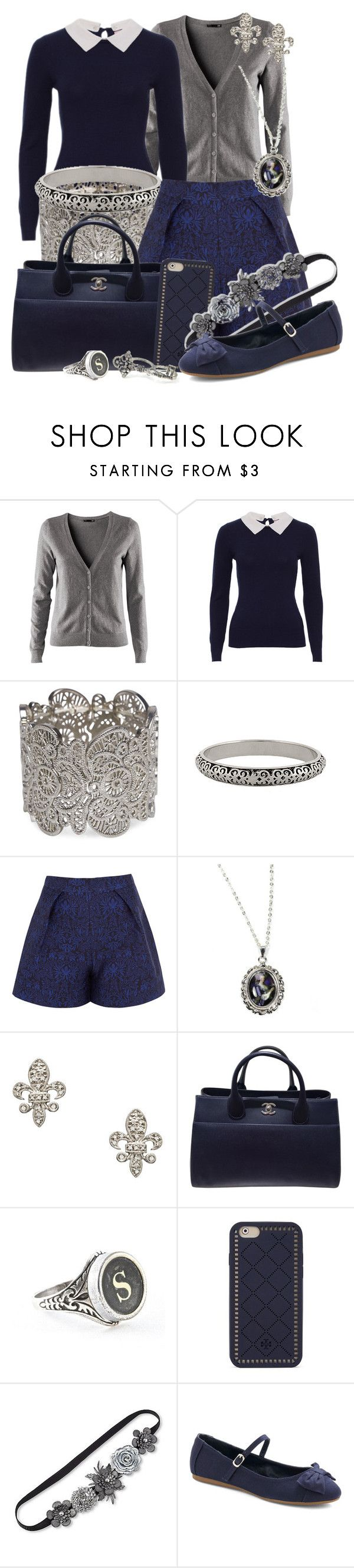 """""""Treasure in the Royal Tower"""" by detectiveworkisalwaysinstyle ❤ liked on Polyvore featuring H&M, Wet Seal, Forever 21, Mother of Pearl, Hoolala, KC Designs, Chanel, Tory Burch and Fantasia"""