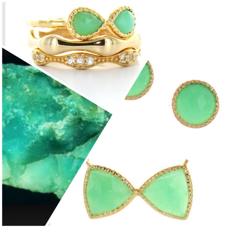 http://sopretty.ca/collections/new-arrivals I've always loved chrysoprase! This variety of chalcedony quartz reminds me of the beach and makes me smile!