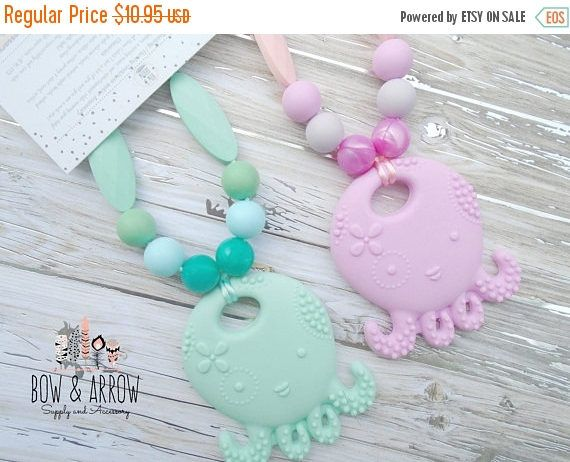 15% OFF Teething Toy, Pacifier Clip, Teething Beads, Breastfeeding Wear, Silicone Teething Beads, ADHD , Tula Accessories