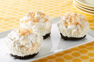 Pina Colada Cups. (Oreo cookies, cream cheese, sugar, crushed pineapple, coconut and Cool Whip.) A nice frozen treat.