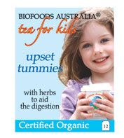 Kids Upset Tummies is ideal for kids who are complaining of upset tummies. Chamomile, fennel, mint and vanilla flavoured tea for kids with upset tummies.