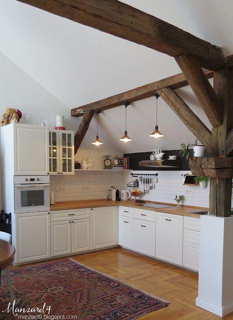 Kitchen under the roof I konyha a tetőtérben I Manzard9