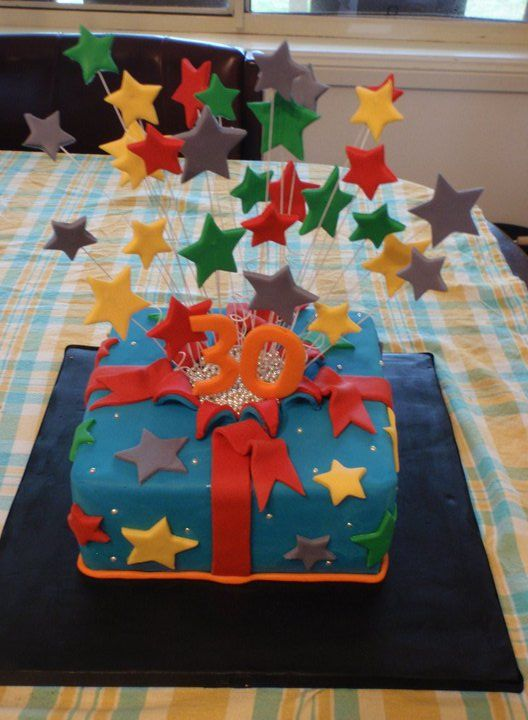 My very own 30th exploding star birthday cake.