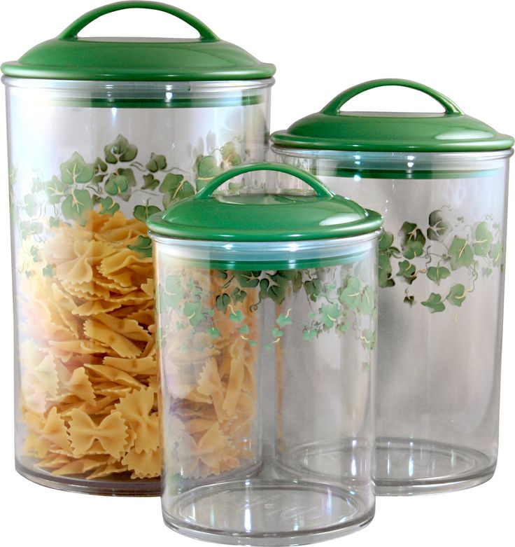Corelle Acrylic Canister Callaway Set Of 3