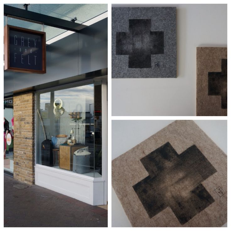 NEW!  My limited edition hand painted felt-on-ply artworks available now at the lovely boutique homewares store 'Grey and Felt' in Sandy Bay, Tasmania, hand-painted + handmade onto felt with plywood backing: available in granite + sandstone colourways. ➕one industrial collection For more infor email:  webberclaire1@gmail.com