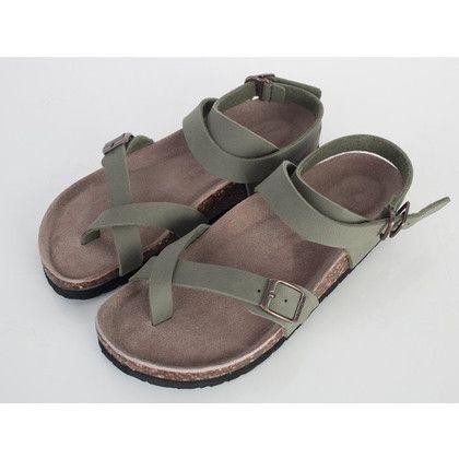 Toe Loop Ankle Strap Sandals