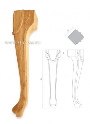 ножки для мебели деревянные MN-063
