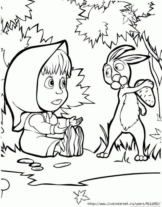 Раскраски - Маша и Медведь. Обсуждение на LiveInternet - Российский Сервис Онлайн-Дневников