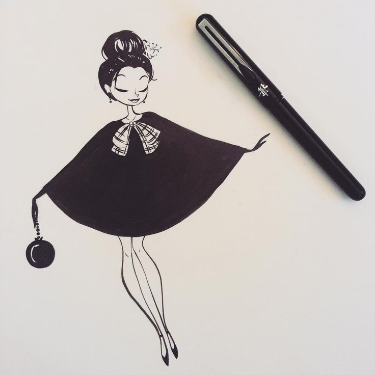 #Inktober ;) Drawn with a Pentel pocket brush pen.