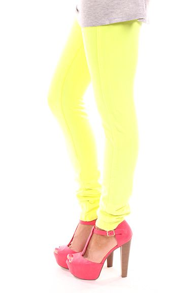 Lime Lush Boutique - Neon Yellow Pants, $15.99 (http://www.limelush.com/neon-yellow-pants/)