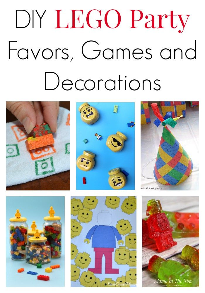 Tips and directions for how to host a LEGO party on a budget. Great DIY ideas for LEGO party favors, games and decorations. LEGO birthday success is guaranteed! #LEGO #LEGOParty #LEGOBirthday #BirthdayFavors