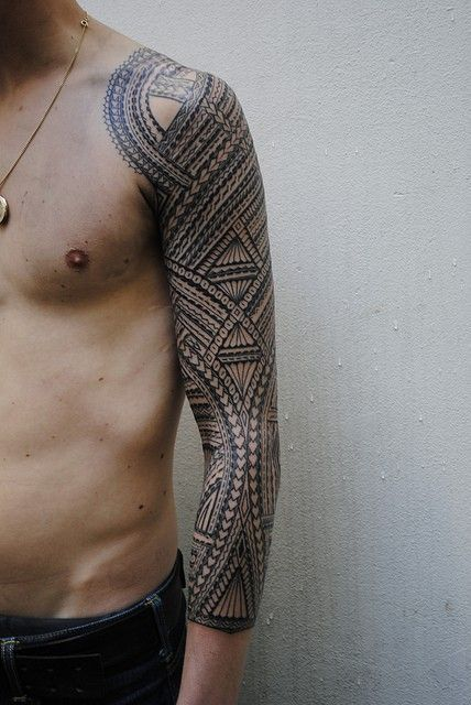 http://tattoo-ideas.us/wp-content/uploads/2013/12/Fully-Inked-Black-Sleeve.jpg Fully Inked Black Sleeve #Armtattoos, #BlackInk, #Guys, #Sleevetattoos, #Tribaltattoos