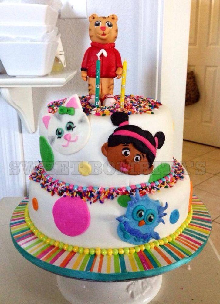 Daniel Tiger birthday cake