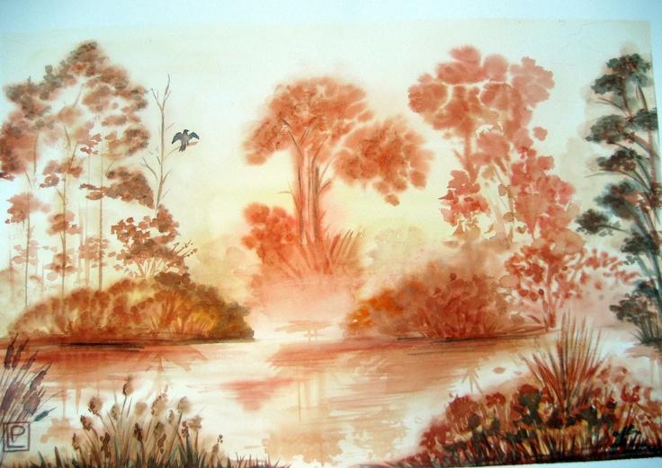 -palude -acquerello di Lorenza Pasquali N.D.