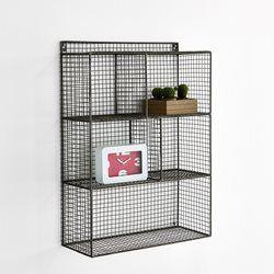 A fixer au mur à l'aide de 2 rondelles, l'étagère métal ajouré La Redoute Intérieurs vous offre un look minimaliste... mais une capacité de rangement maximale avec ses 4 niveaux.Caractéristiques de l'étagère métal ajouré La Redoute Intérieurs :4 étagères.Structure grillage métal, finition peinture époxy gris.Dimensions d'une case : 29 x 19,5 x 18,5 cm.Dimensions totales : H.76,2 x 30,8 x 20,9 cm.