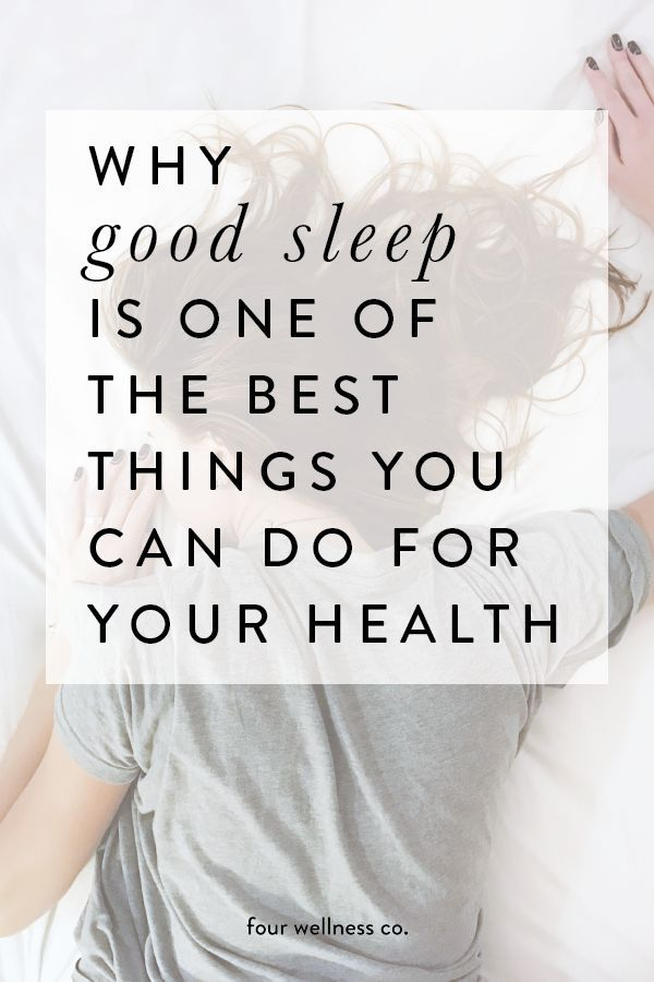 Why Good Sleep Is One of the Best Things You Can Do for Your Health