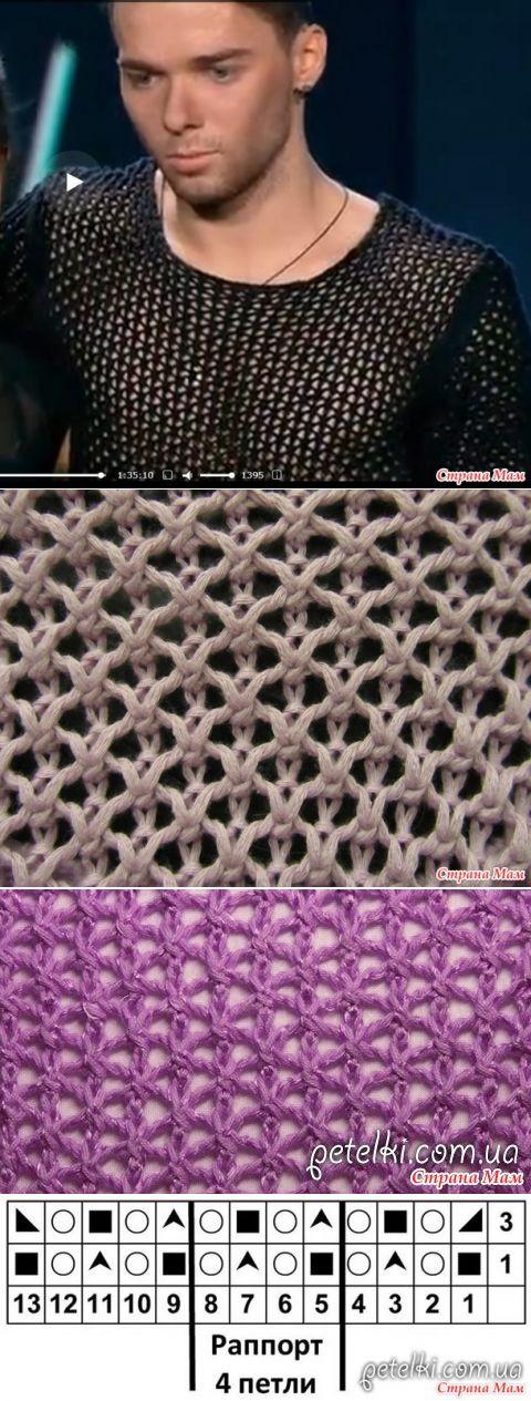 Сетка спицами - Вязание - Страна Мам