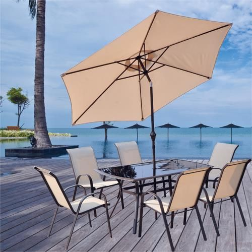 Superb Doral Designs   San Antonio 8 Piece Furniture Group   Get The Doral Designs  KFGT 0071B San Antonio Outdoor Dining Table, 6 San Antonio Chairs And The  San ...