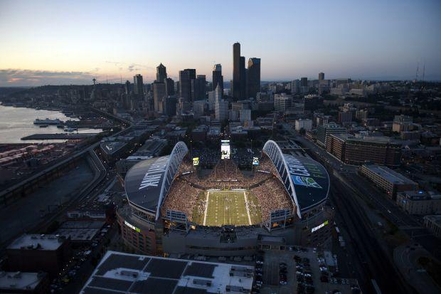Seattle Seahwaks CenturyLink Field. Best fans in the NFL, go Hawks!
