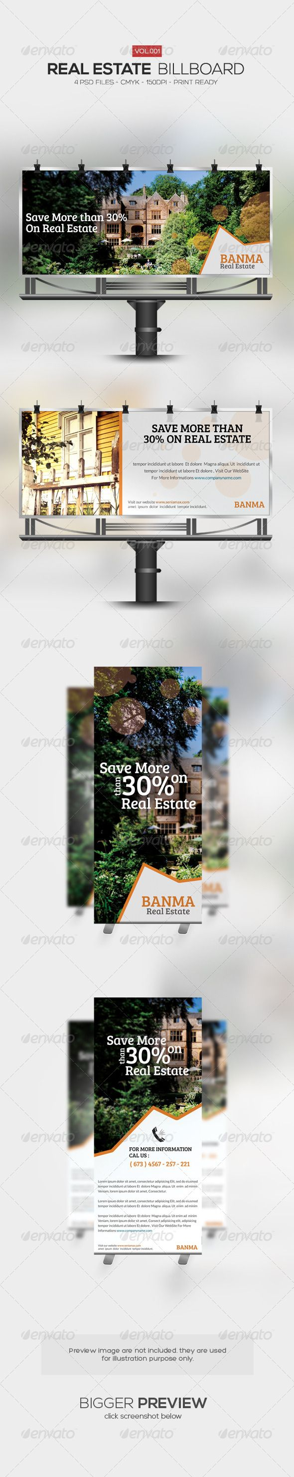Real Estate Billboard 001 — Photoshop PSD #real-estate #real estate • Available here → https://graphicriver.net/item/real-estate-billboard-001/5896538?ref=pxcr