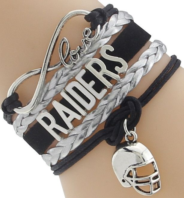 Football Raiders Love Infinity Bracelet