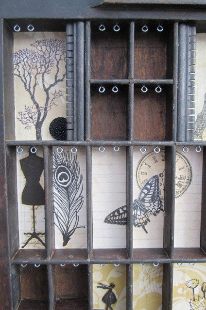 Jewelry Wall Display  from Printer Type Tray by BizarreIntentions