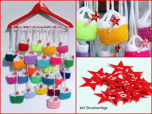 ber ideen zu adventskalender h keln auf pinterest h keln an weihnachten. Black Bedroom Furniture Sets. Home Design Ideas