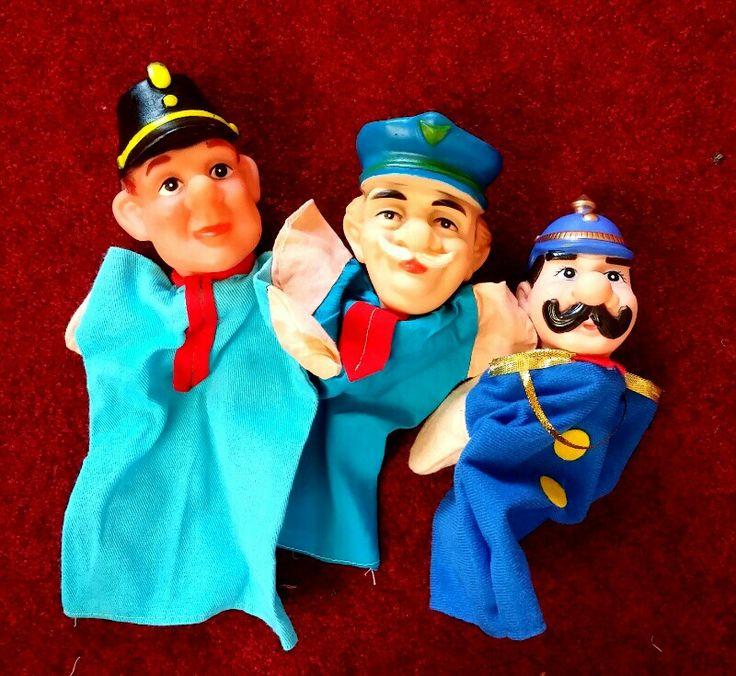 Politie agenten poppenkastpoppen, police puppets, gendarme, Polizei Puppen, politieman, Bromsnor, Joan