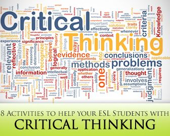 10 best 6 keys to critical thinking images on pinterest human thinking outside the blank 8 critical thinking activities for esl students fandeluxe Image collections
