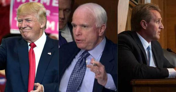 REPUBLICAN MASSACRE: Trump Just ENDED the Careers of John McCain and Jeff Flake