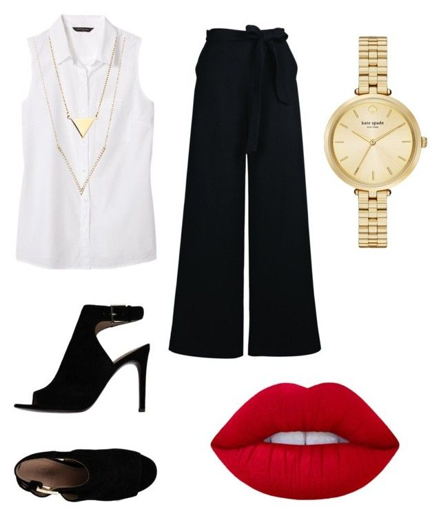 """Untitled #12"" by x-anna-a on Polyvore featuring Banana Republic, Kate Spade, Tory Burch and Lime Crime"