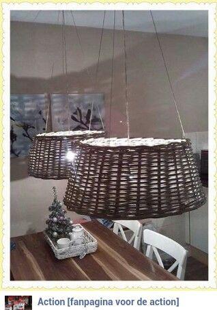 Lampenkap van kerstboommand. Gezien op de Action fanpagina