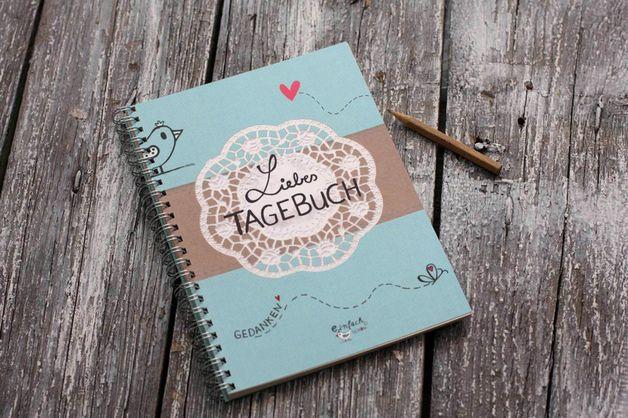 DIN A5 - Liebes Tagebuch DIARY Din A5, 80-seitig NEU - ein Designerstück von einfachschoen-shop bei DaWanda