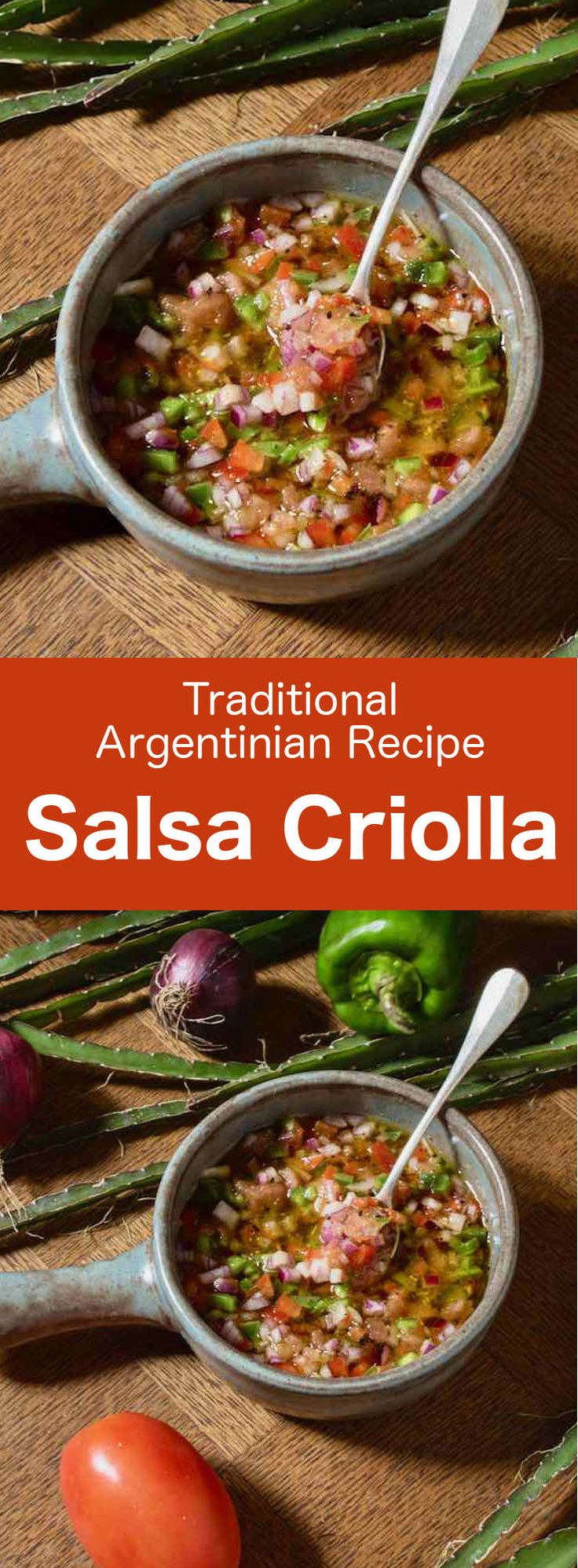 Salsa criolla (sarza criolla) is a South American sauce made with onion, tomato,…