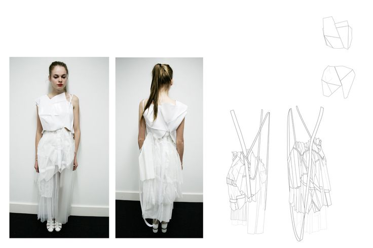 Fashion Sketchbook - sportswear design, layered dress development with fashion design drawings & final look; fashion portfolio // Tascha Elliott