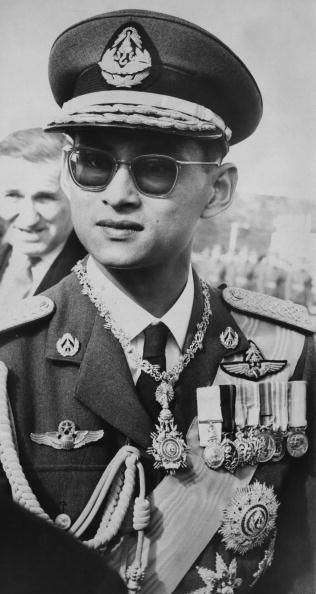 King Bhumibol of Thailand arrives at Wellington Airport in New Zealand for an eightday tour August 1962 From there he will journey to Australia