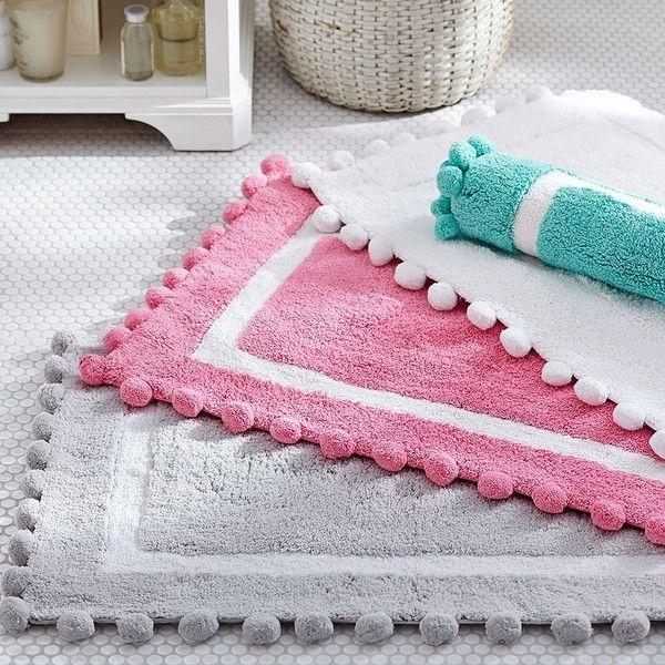 Superior PB Teen Pom Pom Bath Mat, Bright Pink At Pottery Barn Teen   Bathroom