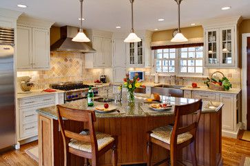 kitchen triangle shaped island ideas | Triangle Island Design Ideas, Pictures, Remodel, and Decor