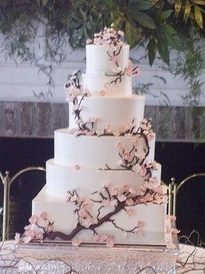 cherry blossom wedding cake by Giota3675