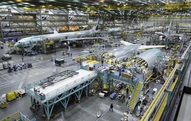 Boeing 777 assembly line, Paine Field, Everett Washington, near Seattle