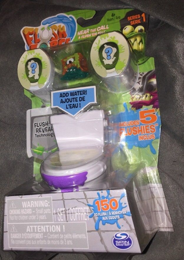 Flush Force Series 1 Filthy Set with 5 Collectible Flushies New Spin Master