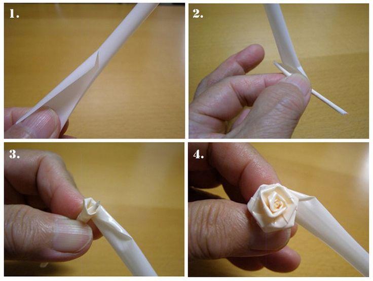 Cara Membuat Bunga dari Sedotan Kecil
