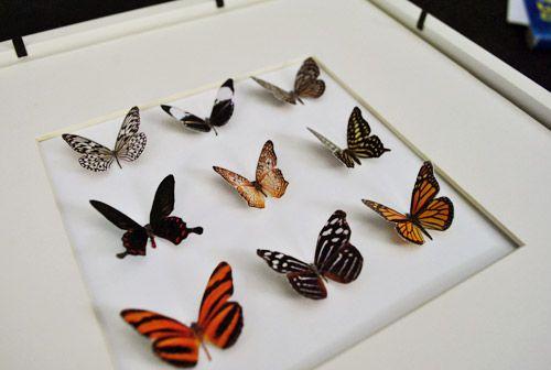 DIY faux butterfly art: Butterfly Shapes, Crafty Things, Decoration Ideas, Butterfly Idea, Butterfly Cutouts, Project Ideas, Diy Projects