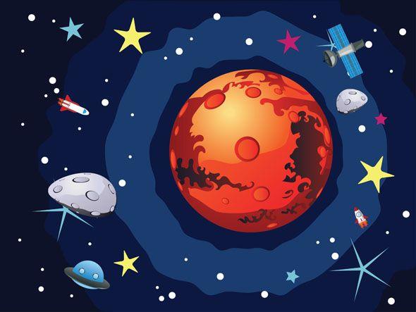 Рисунок дискотека на марсе